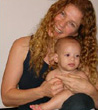 Nicole Terry, Age 44, With Her Baby Dean - Michigan U.S.A